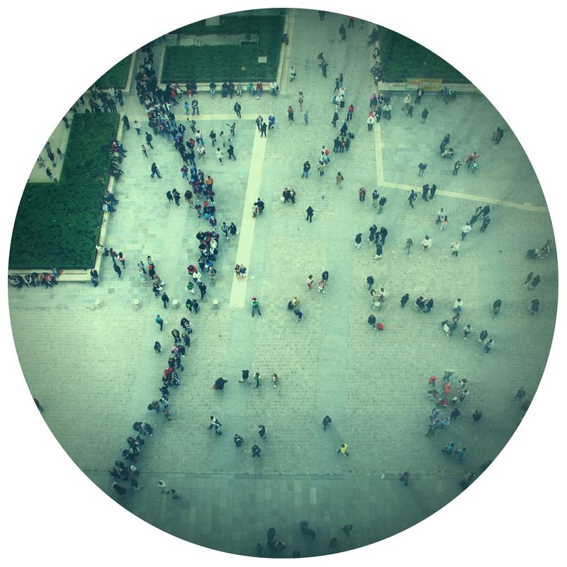 Folla persone