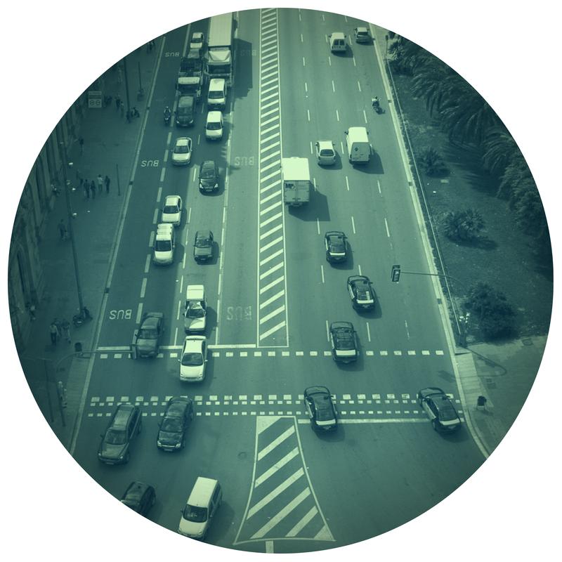 Strada trafficata